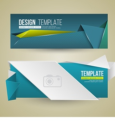 Set of modern design banners vector image