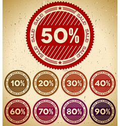Set of retro sale stamps vector image
