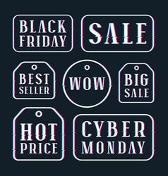 Set of sale discount tags labels emblems vector