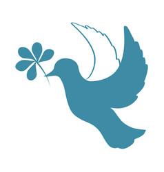 sketch of pigeon bird flying hand drawn stock vector image