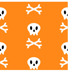 skull with bone crosswise icon white crossbones vector image
