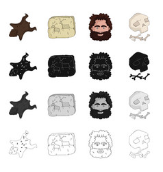 Stone age history and other web icon in cartoon vector