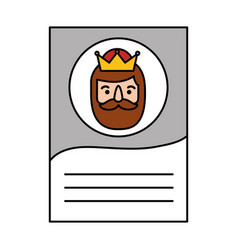 Three kings orient letter epiphany vector