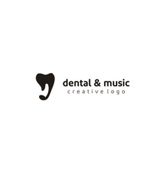 tooth teeth music note icon for dental health vector image