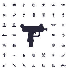 Uzi weapon icon vector