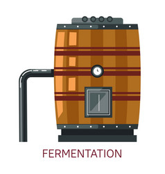 Winemaking fermentation barrel grape alcohol drink vector