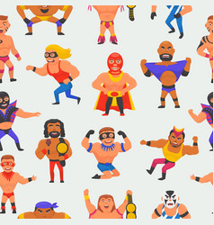 Wrestler masked man character and masking vector