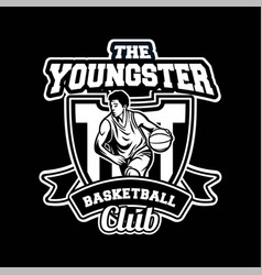 youngster basketball club in professional modern vector image