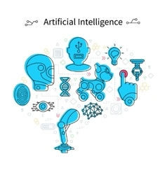 Artificial Intelligence Poster vector image