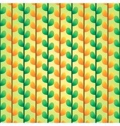 Green and orange leafs pattern vector image