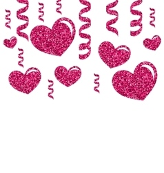 Greeting Card with Bright Hearts for Valentines vector image vector image