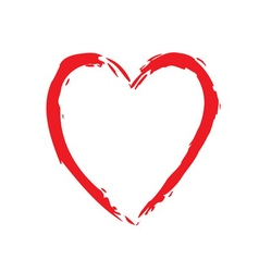 Heart red bright icon sign vector image vector image