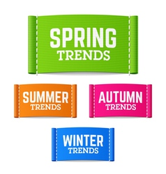Spring summer autumn and winter trends vector image
