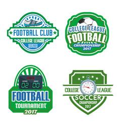 football sport club soccer championship badge set vector image