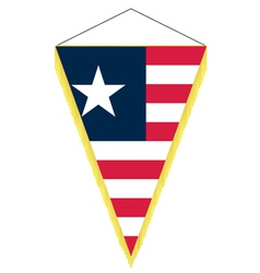 national flag of liberia vector image vector image