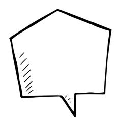 Sketchy speech bubble doodle isolated vector image vector image
