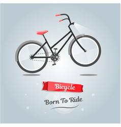 born to ride a bike trendy style for web site vector image