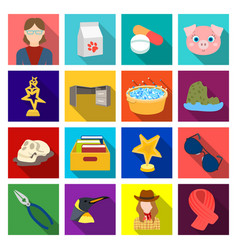 Building medicine industry and other web icon vector