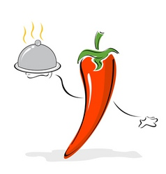 cartoon pepper chef vector image