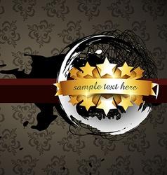 grunge label design vector image