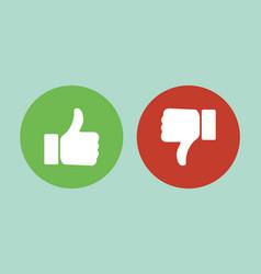 Like or Dislike vector image