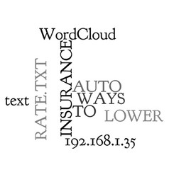 Ways to lower auto insurance rate text word cloud vector