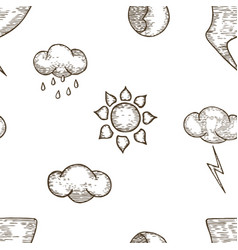 weather seamless pattern background vector image vector image