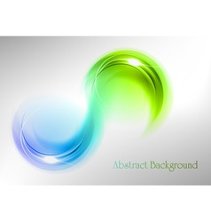abstract shape smoke double white blue green vector image vector image