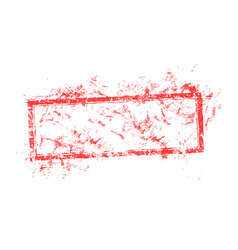 blank dirty red used business grunge vector image vector image
