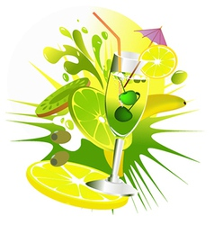 Citrus party drinks vector image