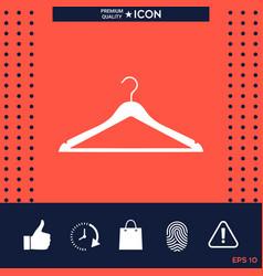 clothes hanger icon vector image vector image