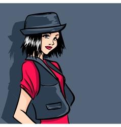 Fashionable teenager vector image vector image