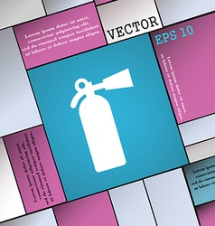 fire extinguisher icon sign Modern flat style for vector image