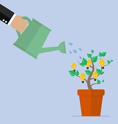 Hand watering idea plant vector