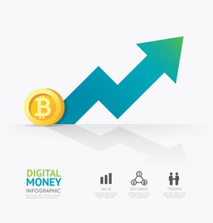 infographic business digital cryptocurrency money vector image vector image