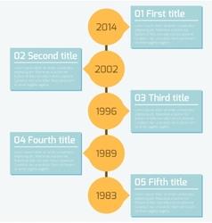 Modern timeline infographics design template vector