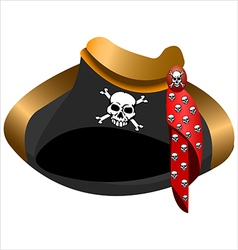 pirate hat tricorn vector image