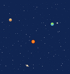 planets in space solar system background vector image