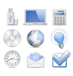 universal web icon set vector image vector image