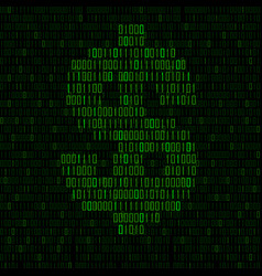 Abstract sign dollar binary code logo vector