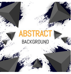 abstract triangle background design 3d flyer vector image