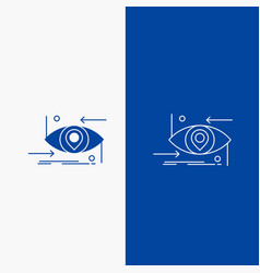 advanced future gen science technology eye line vector image
