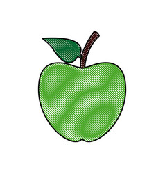 Back to school apple symbol icon vector