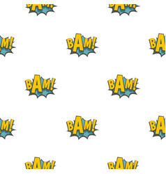bam comic book explosion pattern seamless vector image
