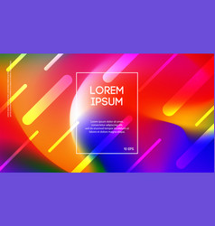 banner colorful liquid motion background vector image