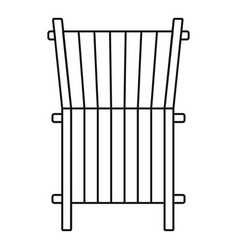 beach deck chair icon outline style vector image