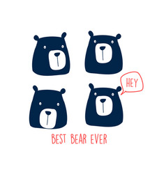 bear graphic for t shirt vector image