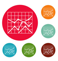 Best chart icons circle set vector