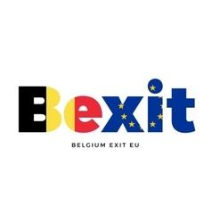 Bexit - belgium exit from european union on vector
