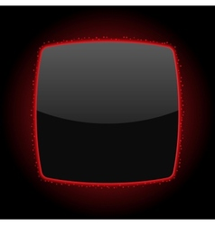 Black Background Or Button With Red Light And vector image